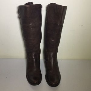 Matisse tall brown leather boot size 8